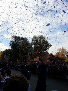 Confetti at the Red Sox Parade